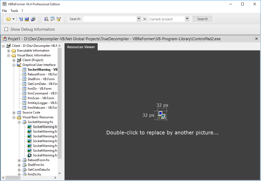 Screenshot 6 of VBReFormer - Visual Basic decompiler